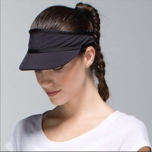Lululemon Perfect Pace Black Visor Hat